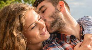man kissing woman 300×164