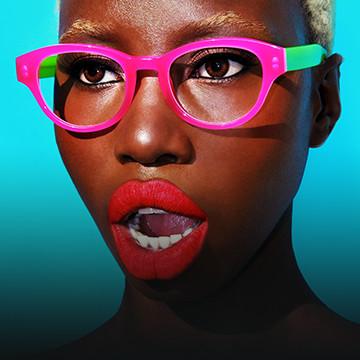 Woman in designer glasses - Eye Doctor, Philadelphia, PA
