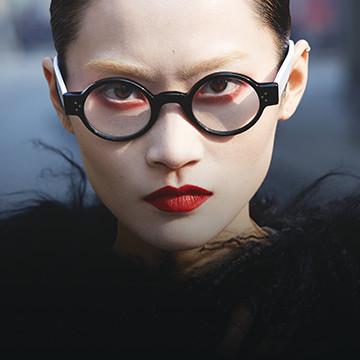 woman in traction glasses - Eye Care - Philadelphia, PA