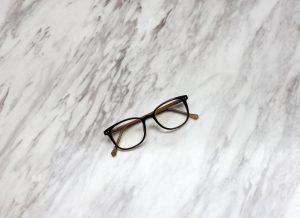 eyeglasses on marble