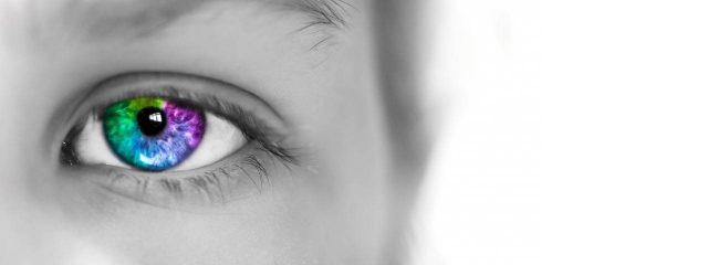 eye care, Colorful Eye Grey Photo in