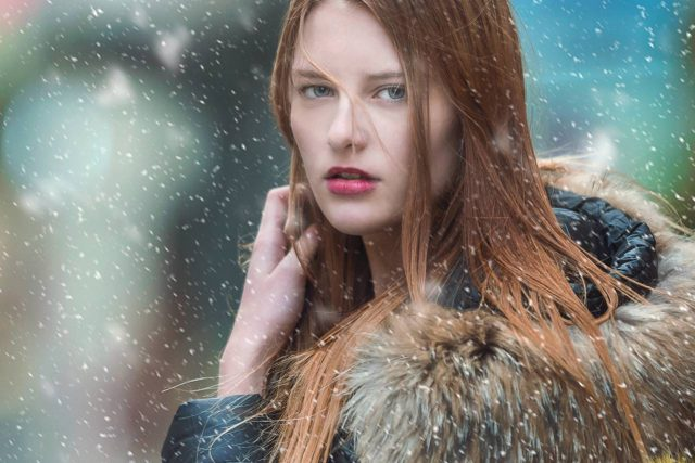 Young Woman Snow Long Hair 1280x853 640x427