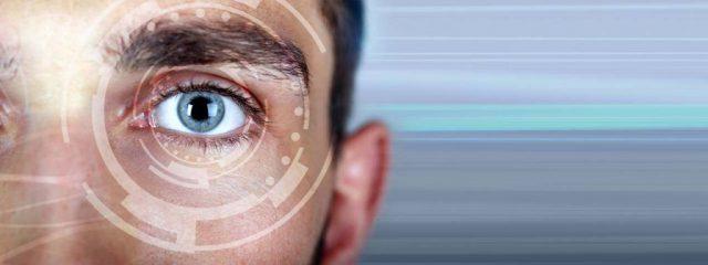 Close-up of eye, illustration of Cataract Surgery