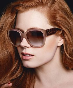 Model wearing Max Mara sunglasses