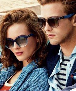 Man and woman wearing Tommy Hilfiger sunglasses