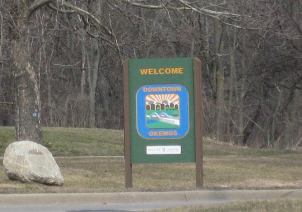 Okemos Michigan sign