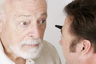 eye care, senior man eye condition treatment in St Albert, AB