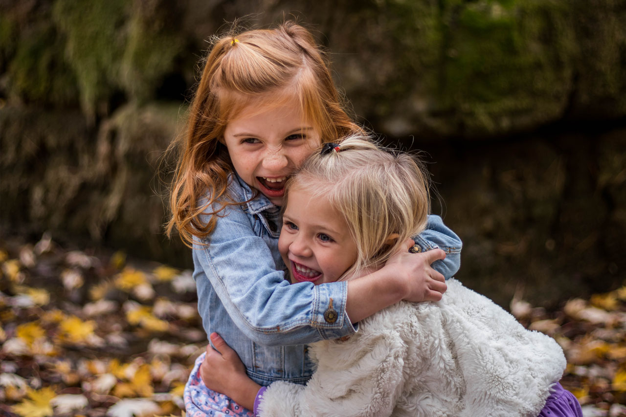 Cute Happy Children Hugging 1280x853