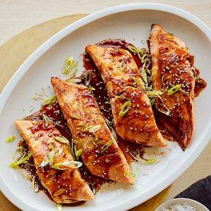 TERRIYAKI, GINGER SALMON -see - food