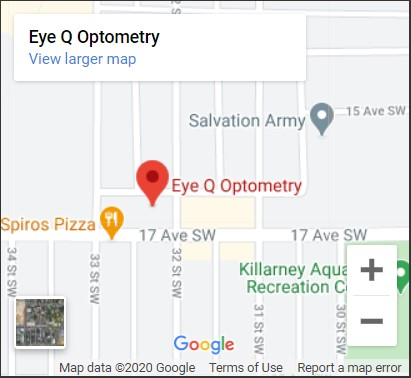 Eye Q Optometry Map