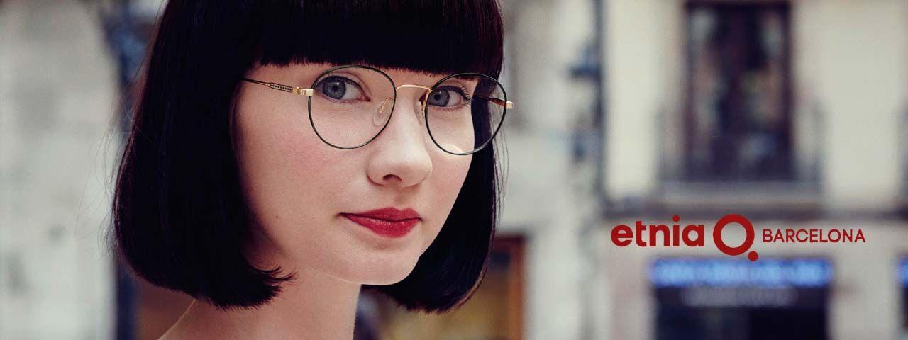Eye doctor, woman wearing Etnia Barcelona eyeglasses in Clive, Iowa