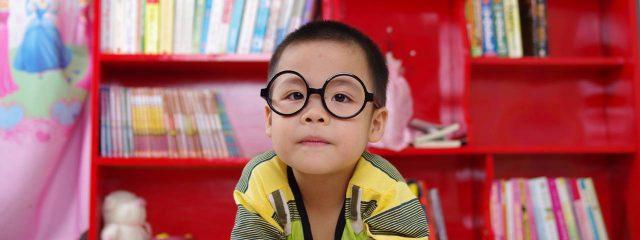 Eye doctor, boy wearing eyeglasses in Toronto, ON