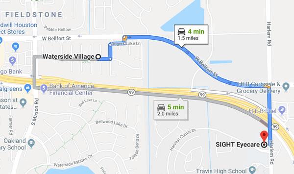 waterside village map