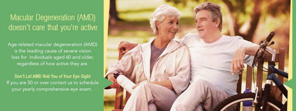 Elderly couple and macular degeneration eye exam in Las Vegas, NV