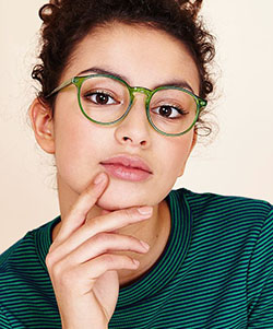 Model wearing Lafonte glasses