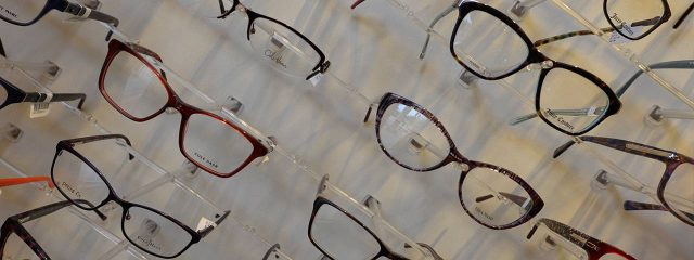 Optometrist, eyeglasses showing on display in Cromwell, CT
