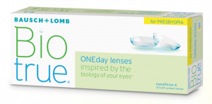 Eye exam, bausch+lomb biotrue oneday for presbyopia in Burnsville, MN
