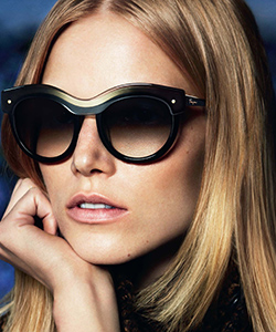 Model wearing Salvatore Ferragamo sunglasses