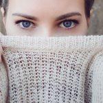 Woman Blue Eyes Sweater 1280×480