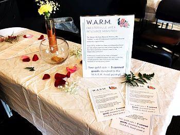WARM table display 350