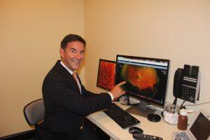 Dr. Falbo showing Optos