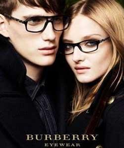 Models wearing Burberry glasses