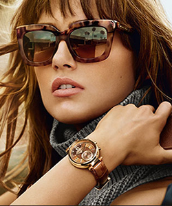 Model wearing Lindberg sunglasses