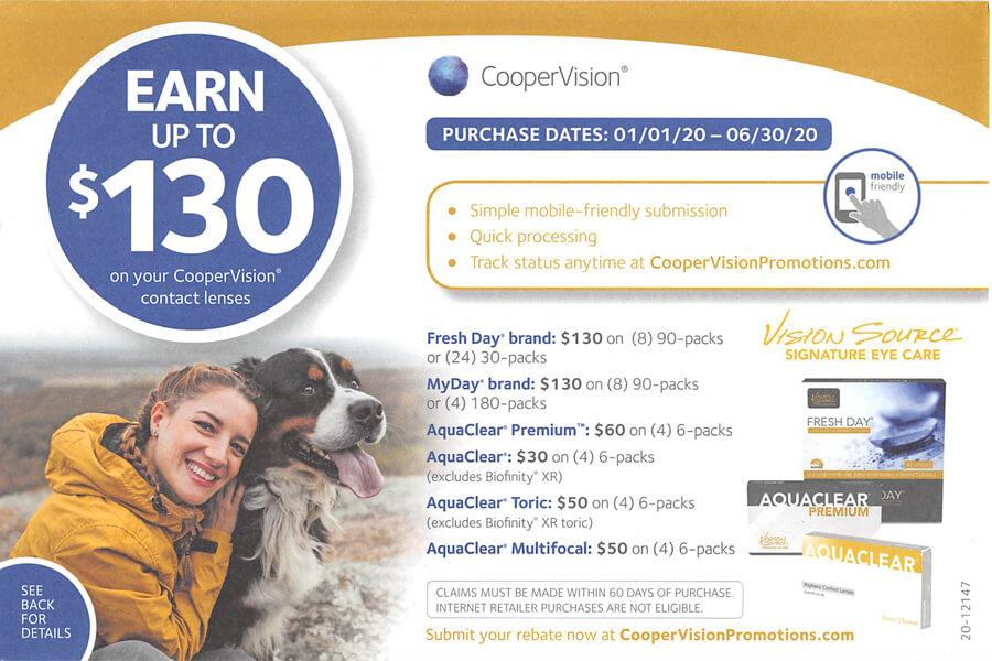 COOPER VISION REBATE 130
