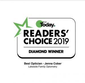 Readers Choice Award - Best Optician - Orillia, Ontario