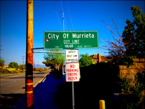 City of Murrieta City Limit Sign