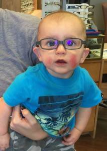 His first glasses