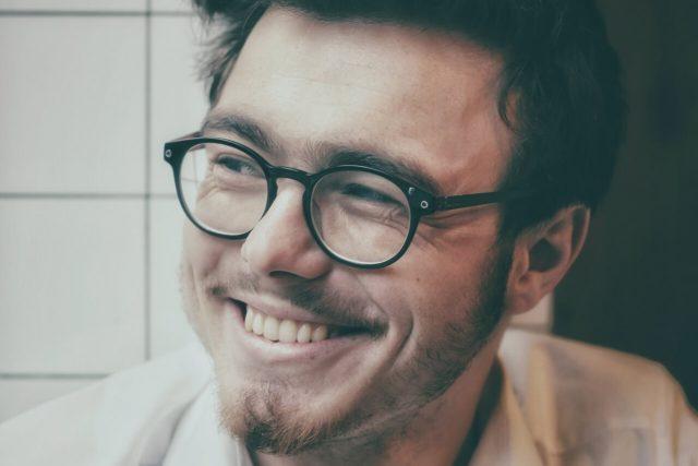 man eyeglasses happy 1280x853