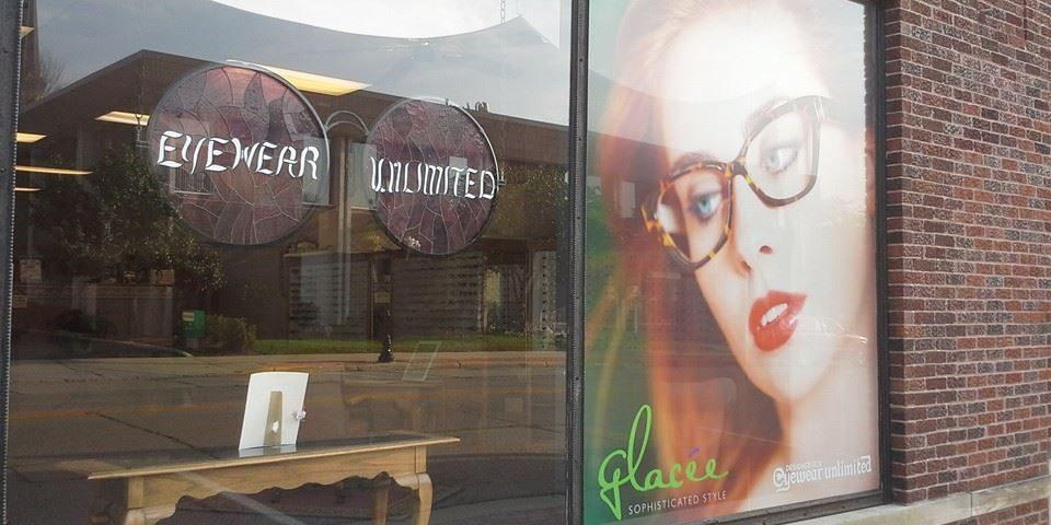 Eyewear Unlimited window display