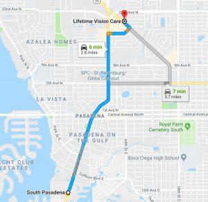 south pasadena fl map