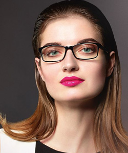 Model wearing OWP glasses