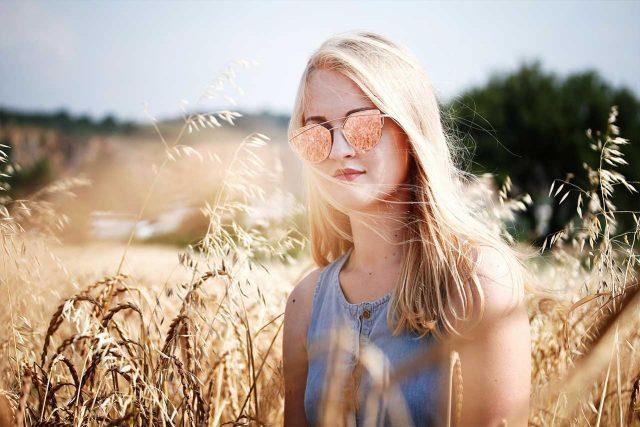 Eye doctor, woman wearing sunglasses in New Holland, Pennsylvania