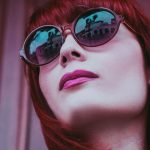 Woman Sunglasses Red Hair 1280×480