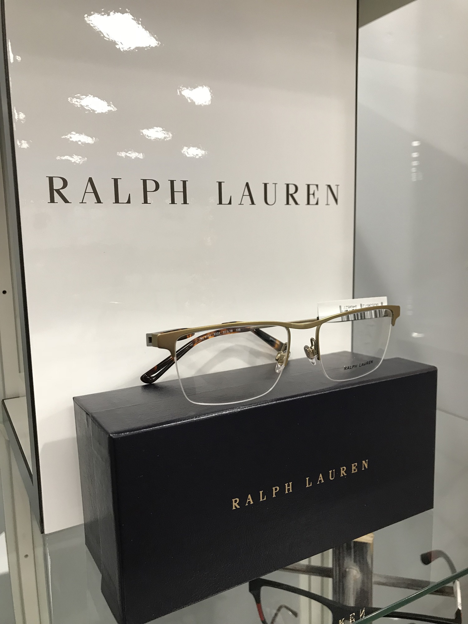 Ralph Lauren eyeglass display