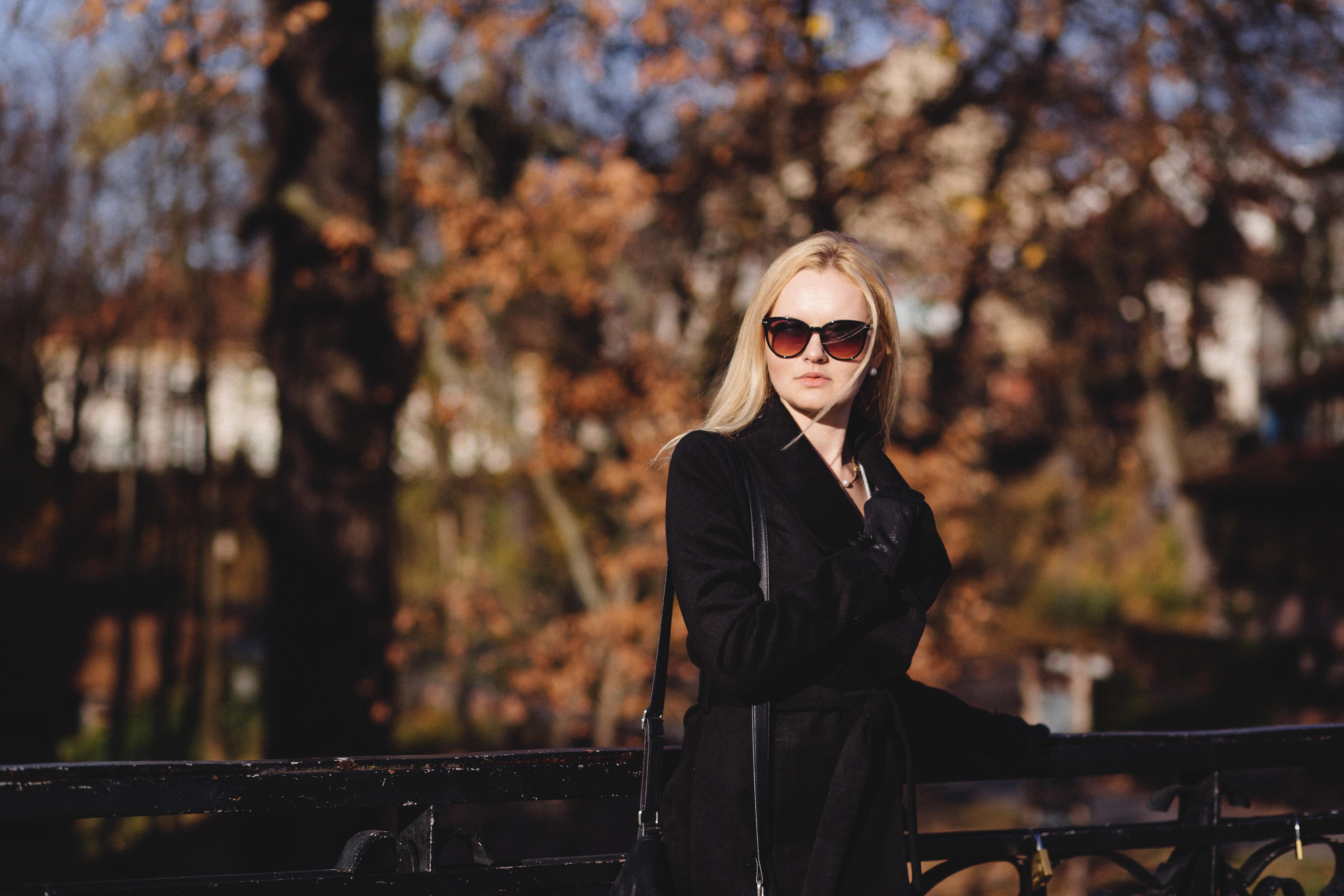 woman sunglasses park