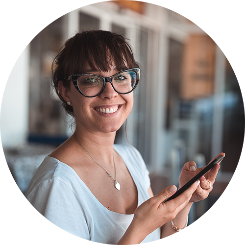 Woman in Glasses - Eye Exam - Colorado Springs, CO