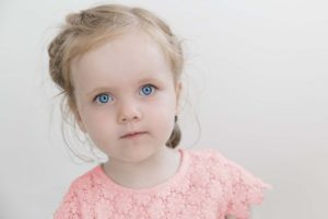 Optometrist, little girl with blue eyes in Springs, CO