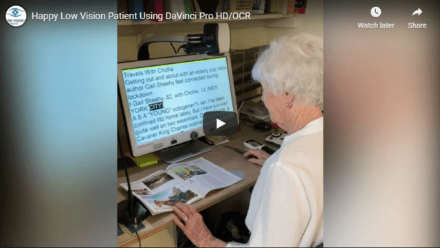 Happy Low Vision Patient Using DaVinci Pro HD OCR YouTube