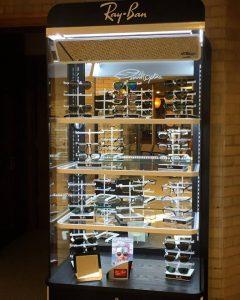 RayBan eyeglass display