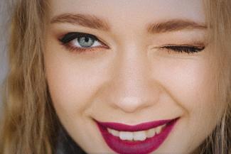 Eye exam, girl with contact lenses in Edmonton, AB