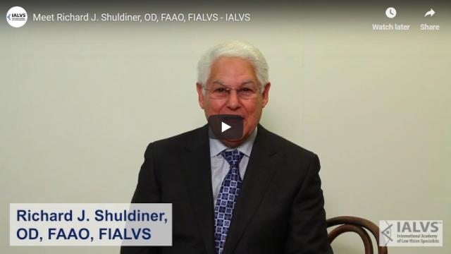 Screenshot 2019 03 29 Meet Richard J Shuldiner, OD, FAAO, FIALVS IALVS YouTube