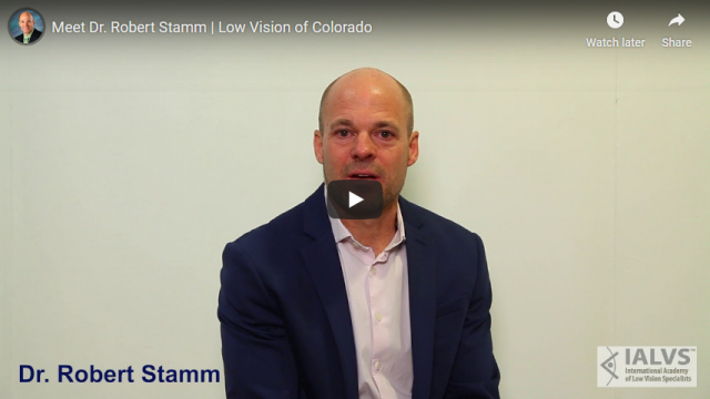 Screenshot 2019 07 20 Meet Dr Robert Stamm Low Vision of Colorado YouTube