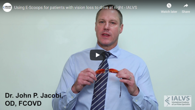Screenshot 2019 03 29 Using E Scoops for patients with vision loss to drive at night IALVS YouTube