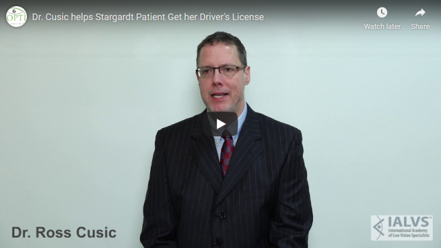 Screenshot 2019 07 20 Dr Cusic helps Stargardt Patient Get her Drivers License YouTube