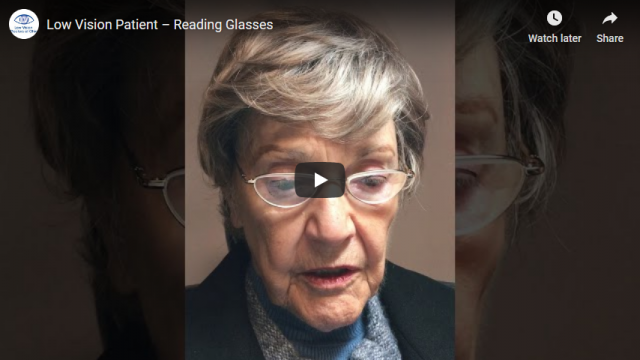 Screenshot 2019 07 20 Low Vision Patient – Reading Glasses YouTube