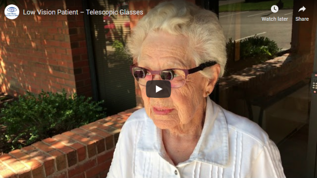 Screenshot 2019 07 20 Low Vision Patient – Telescopic Glasses YouTube